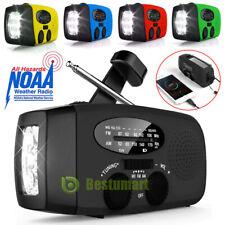Emergency Solar Hand Crank AM/FM/WB Radio LED Torch USB Charger Power Bank 2020