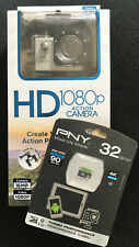 Hype I-FX HD 1080p Action Camera W/PNY 32GB 4K Ultra HD Micro SD Card