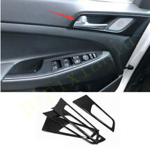 FOR Hyundai Tucson 2019-2020 carbon fiber auto Interior door handle cover trim