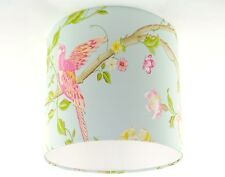 "20cm/8"" Lampshade Handmade with Laura Ashley Summer Palace Duck Egg Wallpaper"