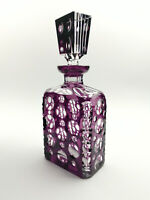 Cristallerie Val Saint Lambert Bleikristall Whiskykaraffe Charles Graffart 1920