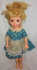 """Rare Vintage Miss Sunbeam Advertising Eegee Sleepy Eyes Plastic Doll 17"""" Tall &"""