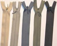 """WOVEN INVISIBLE/CONCEALED ZIP 6,8,10,12,14,16,18,20"""" / 15,20,25,30,35,40,45,50CM"""