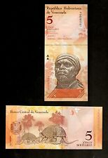 VENEZUELA, 5 NOTES OF 5 BOLIVARES , 2007, P-89, CONSEC. S/N, UNC FROM BUNDLE