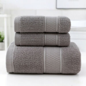 Luxury Towels 3-Piece Cotton Towels Set Towel & Bath Towel Ultra Absorbent Soft