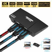 TESmart Ultra HD 1x2 1 in 2 out HDMI Splitter Switcher Amplifier Repeater 4K 3D