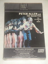 PETER ALLEN AND THE ROCKETTES VHS SEALED NEW 1981/82 VERY RARE HARD FIND SEALED