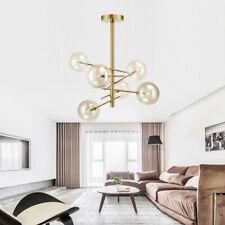 6 Lights Fixture Pendant Light Modern Sputnik Polished Gold Lamp Brushed Brass