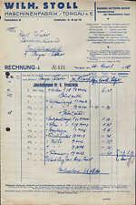 TORGAU a. E., Rechnung 1928, Landmaschinen-Fabrik Wilh. Stoll