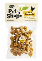 Pet 'n Shape Chik 'n Rice Dumbbells Natural Dog Treats, 8-Ounce