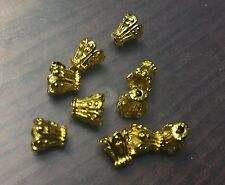 Vintage M. Haskell Gold Metal Textured Bali Deco Cone Bead Lot