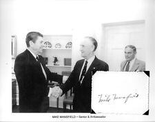 Mike Mansfield Autograph US Senator Montana Ambassador Japan Majority Leader #3