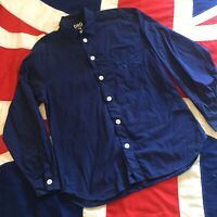 MENS DOLCE AND GABBANA BLUE LONG SLEEVE SHIRT LARGE