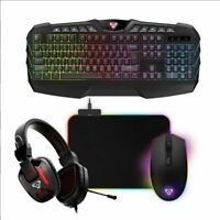 Laser Gaming Bundle, Headphone. KB, Mouse & Mat (REPACK)