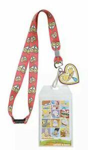 Nickelodeon Hey Arnold! Lanyard Badge ID Holder Keychain Arnold Heart #Bae Print