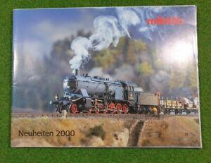 MÄRKLIN H0  >> Neuheiten-Katalog 2000 << | deutsch | 98 Seiten | d110