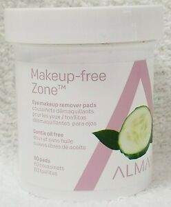Almay MAKEUP-FREE ZONE Eye Makeup Remover Gentle Oil-Free 80 Pads Smooth New