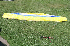 Frenzy 7.3 Ozone kiteboarding kite, Yellow with Lines and Bar