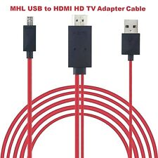 MHL Micro USB to HDMI TV AV Cable Adapter HDTV For Samsung Galaxy Android Phone