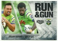 2016 NRL ELITE RUN & GUN CANBERRA RAIDERS JORDAN RAPANA EDRICK LEE RG3 CARD
