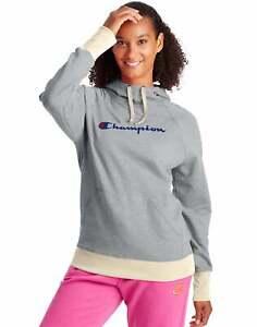 Champion Women's Athletics Powerblend Hoodie, Script Logo