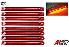 8x 12-24V SMD LED RED SIDE TAIL MARKER LIGHTS LAMPS POSITION TRUCK TRAILER LORRY