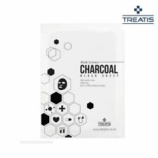 TREATIS CHARCOAL Black Mask Sheet 10pcs Pore management Calm Vegetable extract