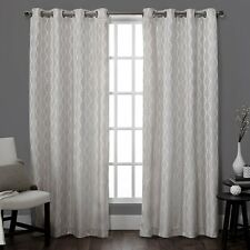 "Exclusive Home Baroque Grommet Curtain Panel Pair, Dove Grey - 54"" x 84"""