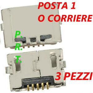 CONNETTORE RICARICA ( 3 pezzi ) MICRO USB PER HUAWEI P8 LITE ALE-L21