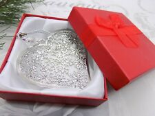 SWAROVSKI ELEMENTS Crystal Bead *BOXED* SP HEART Xmas Tree Ornament Decoration