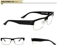 New Electric Visual Rx Mutiny.5 (54-16-140) Black Prescription Frames Ret$140