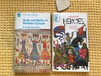 VINTAGE 70s , PUFFIN A BOOK OF HEROES & GODS & MYTHS OF NORTHERN EUROPE ,VIKINGS