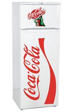 2 Stickers COCA-COLA pour FRIGO 100cm x 50cm (Coca-cola) - 30cm x 30cm (Capsule)