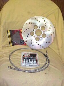 Harley  FLH  72-81 performance brake update kit shovelhead rotor, pads & line