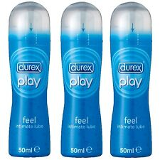Durex Play Feel Lube Sex Lubricant Pleasure Gel Water Base 50ml 1,2 or 3 Bottles