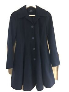 ASOS Maternity Winter Swing Coat, navy Size 8