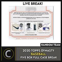 2020 TOPPS DYNASTY BASEBALL 5 BOX (FULL CASE) BREAK #A984 - RANDOM TEAMS