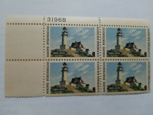 US #1391 Maine Statehood Issue of 1970, Plate Block-4, MNH-