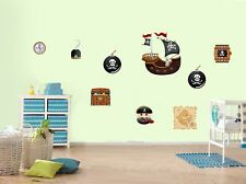 Bateau pirate pirates caribbean style enfant nursery wall stickers
