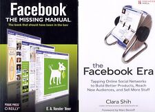 2 books: Facebook: The Missing Manual + The Facebook Era -Ships Free