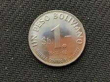1968 Bolivia Un Peso Boliviano Coin GEM UN     MINTAGE 40K    FAO ISSUE    #C823