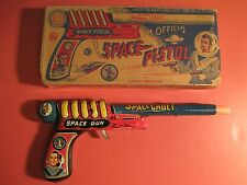 1950's Marx TOM CORBETT Space Cadet Tin Litho RAY GUN PISTOL Clicker w/Box
