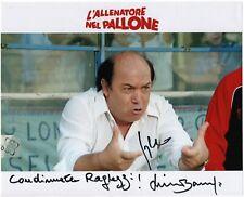 Lino Banfi Sergio Martino L'allenatore Nel Pallone Foto Autografata Commedia Coa