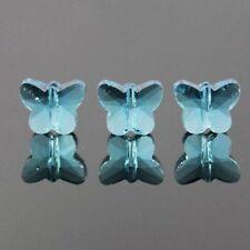 6pcs Swaro/vski  5x6x10mm Butterfly Crystal beads B Sky-blue