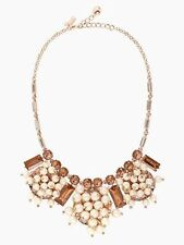 Kate Spade CLINK CLINK SHORT NECKLACE EARRINGS SET BLUSH MULIT/ROSE GOLD BRIDAL