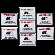 LOT 7 SECURITY SURVIELLANCE CAMERA WARNING STICKERS JEWELRY DISPLAY CASE