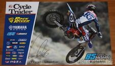 2017 Tommy Hahn signed Yamaha YZ450F AMA Supercross Motocross Poster
