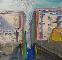 JOSE TRUJILLO Contemporary Oil Painting Abstract Urban City Buildings Modern Art