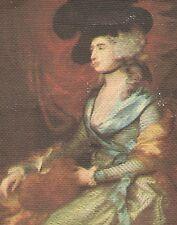 Vintage tobacco cigarette canvas 'silk' - use in crazy quilt - Mrs. Siddons