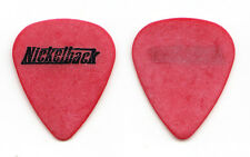 Nickelback Chad Kroeger Signature Red Guitar Pick - 2001 Tour